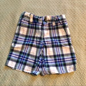 Janie and Jack Blue Checker Shorts